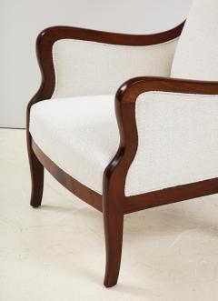 Frits Henningsen A Frits Henningsen Mahogany and Upholstered Wing Chair Circa 1940 50 - 1996691