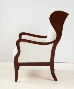 Frits Henningsen A Frits Henningsen Mahogany and Upholstered Wing Chair Circa 1940 50 - 1996692