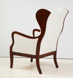 Frits Henningsen A Frits Henningsen Mahogany and Upholstered Wing Chair Circa 1940 50 - 1996693