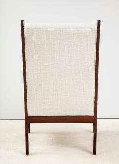 Frits Henningsen A Frits Henningsen Mahogany and Upholstered Wing Chair Circa 1940 50 - 1996695