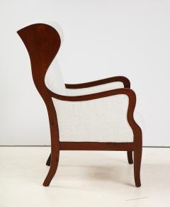 Frits Henningsen A Frits Henningsen Mahogany and Upholstered Wing Chair Circa 1940 50 - 1996696