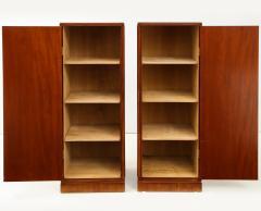 Frits Henningsen A Pair of Frits Henningsen Mahogany Freestanding Pedestal Cabinets Circa 1940s - 867872