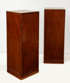 Frits Henningsen A Pair of Frits Henningsen Mahogany Freestanding Pedestal Cabinets Circa 1940s - 867873