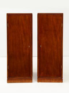 Frits Henningsen A Pair of Frits Henningsen Mahogany Freestanding Pedestal Cabinets Circa 1940s - 867875
