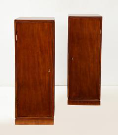 Frits Henningsen A Pair of Frits Henningsen Mahogany Freestanding Pedestal Cabinets Circa 1940s - 867876