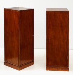 Frits Henningsen A Pair of Frits Henningsen Mahogany Freestanding Pedestal Cabinets Circa 1940s - 867877