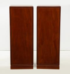 Frits Henningsen A Pair of Frits Henningsen Mahogany Freestanding Pedestal Cabinets Circa 1940s - 867879