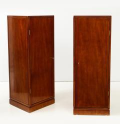 Frits Henningsen A Pair of Frits Henningsen Mahogany Freestanding Pedestal Cabinets Circa 1940s - 867880