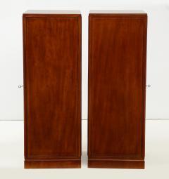 Frits Henningsen A Pair of Frits Henningsen Mahogany Freestanding Pedestal Cabinets Circa 1940s - 867881