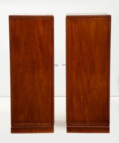 Frits Henningsen A Pair of Frits Henningsen Mahogany Freestanding Pedestal Cabinets Circa 1940s - 867882