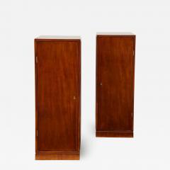 Frits Henningsen A Pair of Frits Henningsen Mahogany Freestanding Pedestal Cabinets Circa 1940s - 870270