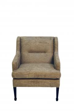 Frits Henningsen Frits Henningsen Lounge Chair with Stained Beech Legs Upholstered Linen - 617452