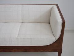 Frits Henningsen Frits Henningsen Mahogany Sofa with White Fabric Upholstery - 1210012