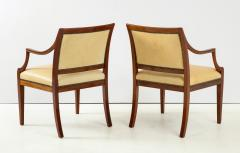 Frits Henningsen Pair of Frits Henningsen Mahogany and Leather Open Armchair circa 1940s - 1695251