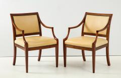 Frits Henningsen Pair of Frits Henningsen Mahogany and Leather Open Armchair circa 1940s - 1695253