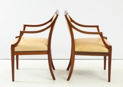Frits Henningsen Pair of Frits Henningsen Mahogany and Leather Open Armchair circa 1940s - 1695254