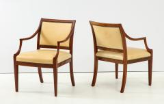 Frits Henningsen Pair of Frits Henningsen Mahogany and Leather Open Armchair circa 1940s - 1695258