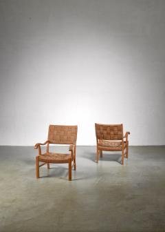 Fritz Hansen Fritz Hansen beech and seagrass chairs Denmark 1930s - 1015061