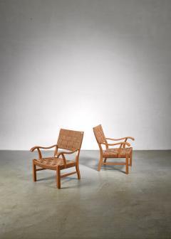 Fritz Hansen Fritz Hansen beech and seagrass chairs Denmark 1930s - 1015062