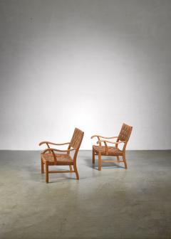 Fritz Hansen Fritz Hansen beech and seagrass chairs Denmark 1930s - 1015063