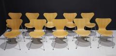 Fritz Hansen Ten Fritz Hansen Series 7 Chairs in Maple Sold in Pairs - 2085643