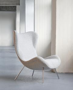 Fritz Neth Fritz Neth Madame Lounge Chair in Pearl Dedar Boucl Correcta Germany 1950s - 1609801