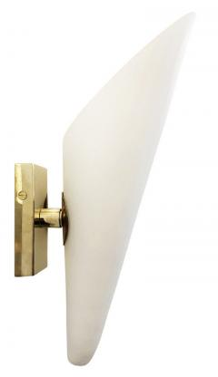 Frosted Glass Cone Sconces Italy 1960 s - 1092035