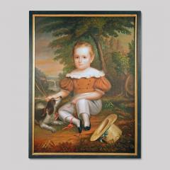 Full Length Portrait of a Young Boy with His Dog - 37397