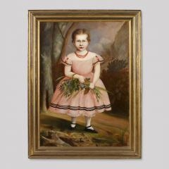 Full Length Portrait of a Young Girl Wearing a Pink Dress - 130963