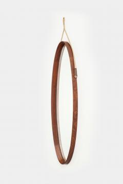 Full body mirror from Italy mahogany 50s - 2067527