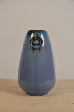 Fulper Pottery Prinstine Fulper Blue Glazed Pottery Handled Vase or Urn - 1087234