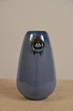 Fulper Pottery Prinstine Fulper Blue Glazed Pottery Handled Vase or Urn - 1087238