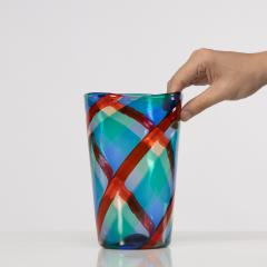 Fulvio Bianconi Fulvio Bianconi Twisted canes vase for Venini Murano Italia - 1591522