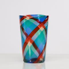 Fulvio Bianconi Fulvio Bianconi Twisted canes vase for Venini Murano Italia - 1591523