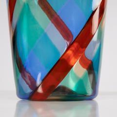 Fulvio Bianconi Fulvio Bianconi Twisted canes vase for Venini Murano Italia - 1591530