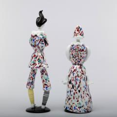 Fulvio Bianconi Fulvio Bianconi for Venini Murano Pair of Figurines Arlecchino and Arlecchina - 1060484