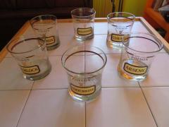 Fun Set of Six Name Your Poison Rocks Glasses Ice Bucket Mid Century Modern - 1629106