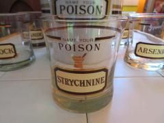 Fun Set of Six Name Your Poison Rocks Glasses Ice Bucket Mid Century Modern - 1629107