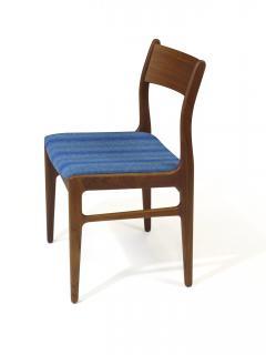 Funder Schmidt and Madsen Funder Schmidt and Madsen Funder Schmidt and Madsen Teak Dining Chairs in Blue Wool Set of 6 - 990156