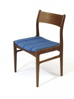 Funder Schmidt and Madsen Funder Schmidt and Madsen Funder Schmidt and Madsen Teak Dining Chairs in Blue Wool Set of 6 - 990158