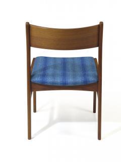 Funder Schmidt and Madsen Funder Schmidt and Madsen Funder Schmidt and Madsen Teak Dining Chairs in Blue Wool Set of 6 - 990160