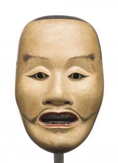 Fuseki Nakamura Fine and Rare Noh Mask by Nakamura Fuseki 1824 Edo Period - 1615863