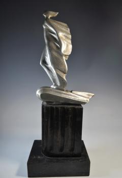 Futurist Automobile Trophy Art Deco Modern Bronze Sculpture - 1381095
