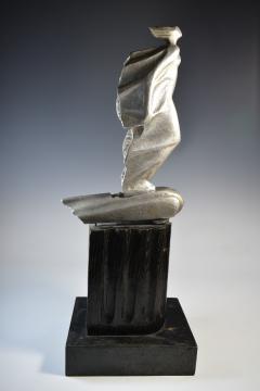 Futurist Automobile Trophy Art Deco Modern Bronze Sculpture - 1381097