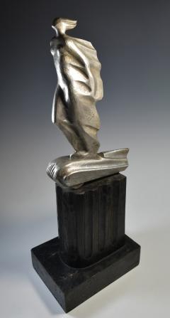 Futurist Automobile Trophy Art Deco Modern Bronze Sculpture - 1381098