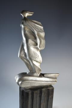 Futurist Automobile Trophy Art Deco Modern Bronze Sculpture - 1381101