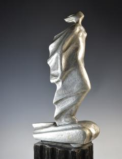 Futurist Automobile Trophy Art Deco Modern Bronze Sculpture - 1381104