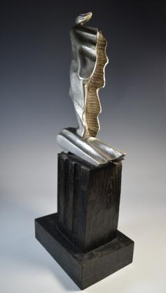Futurist Automobile Trophy Art Deco Modern Bronze Sculpture - 1381105