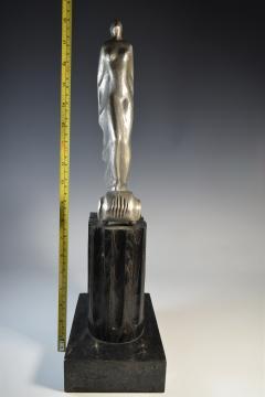 Futurist Automobile Trophy Art Deco Modern Bronze Sculpture - 1381133