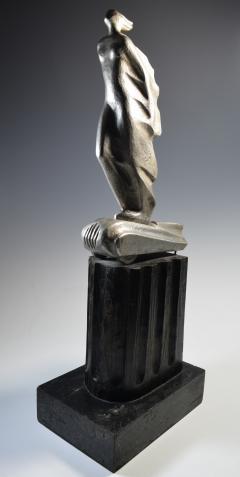 Futurist Automobile Trophy Art Deco Modern Bronze Sculpture - 1381134